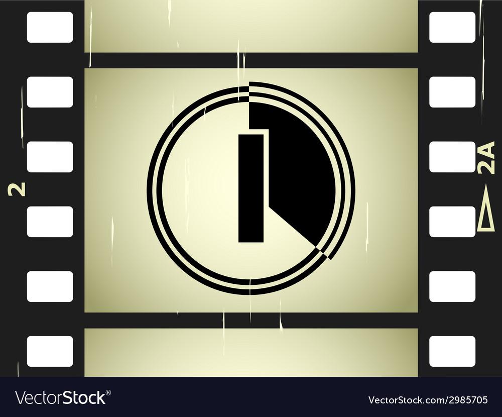 Scratched film strip vector | Price: 1 Credit (USD $1)