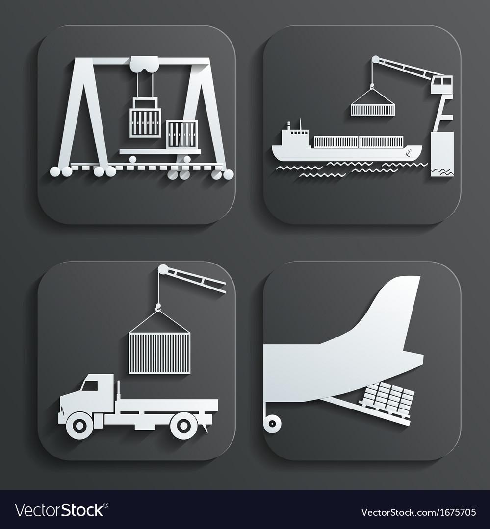 Shipment set vector | Price: 1 Credit (USD $1)