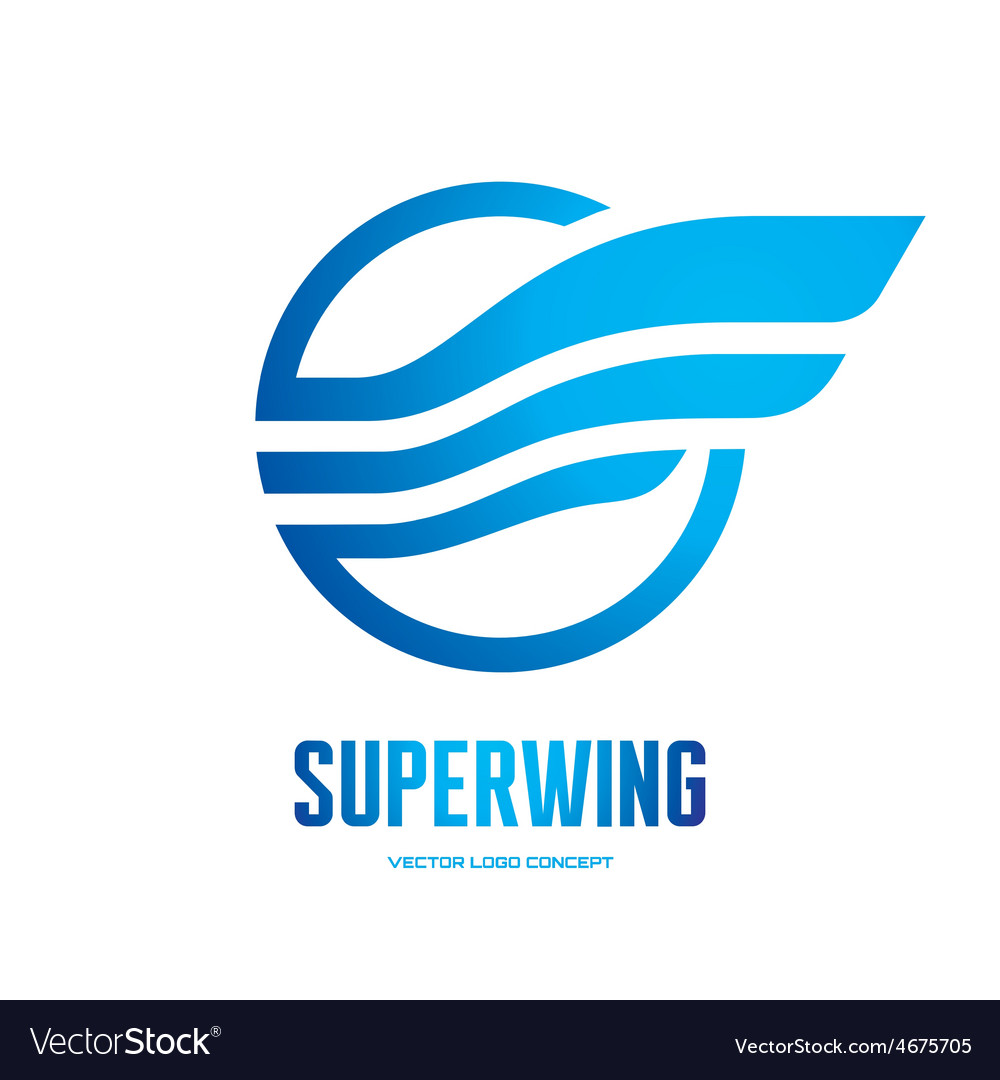 Superwing - logo concept vector | Price: 1 Credit (USD $1)
