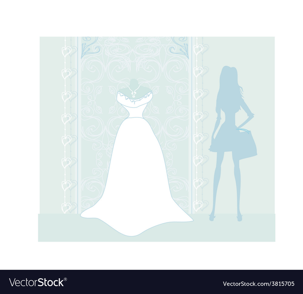 Wedding dress salon vector | Price: 1 Credit (USD $1)