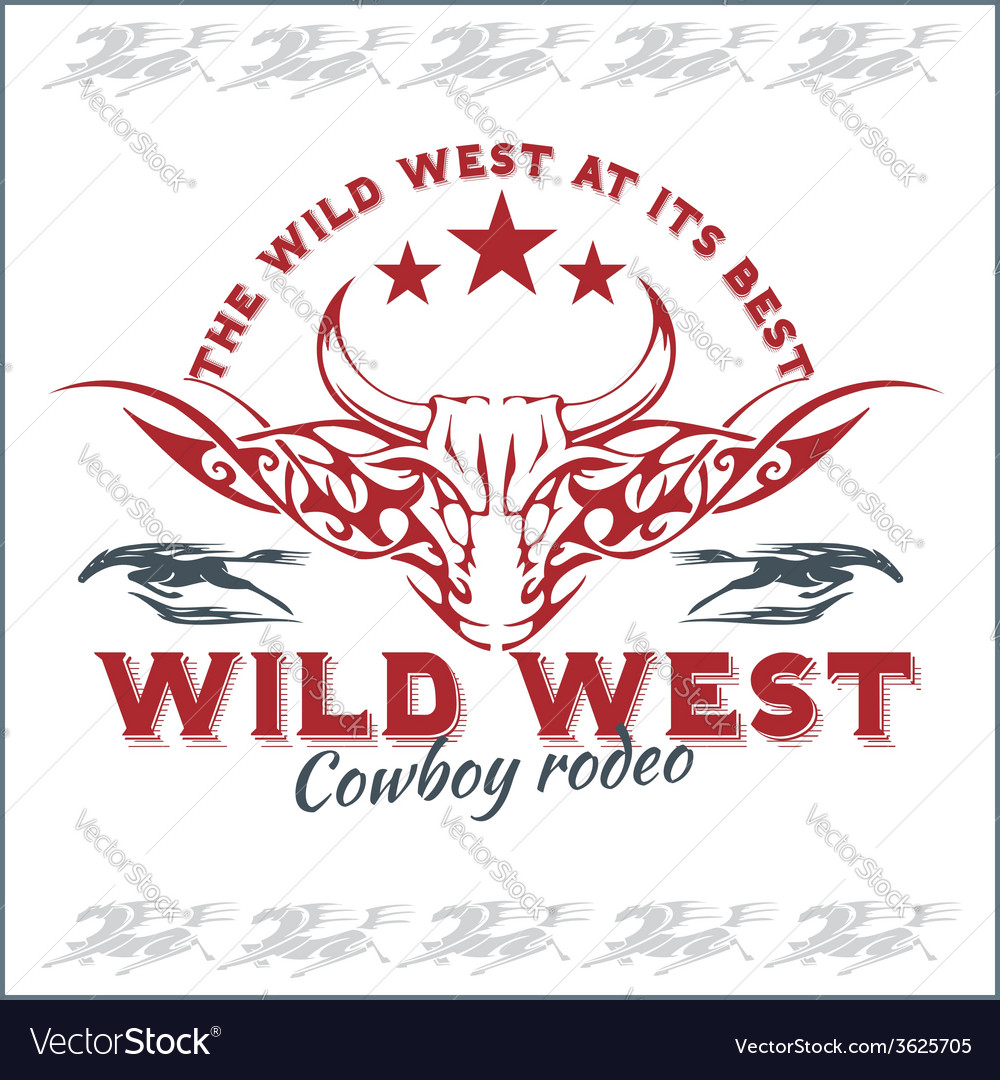 Wild west - cowboy rodeo emblem vector | Price: 1 Credit (USD $1)