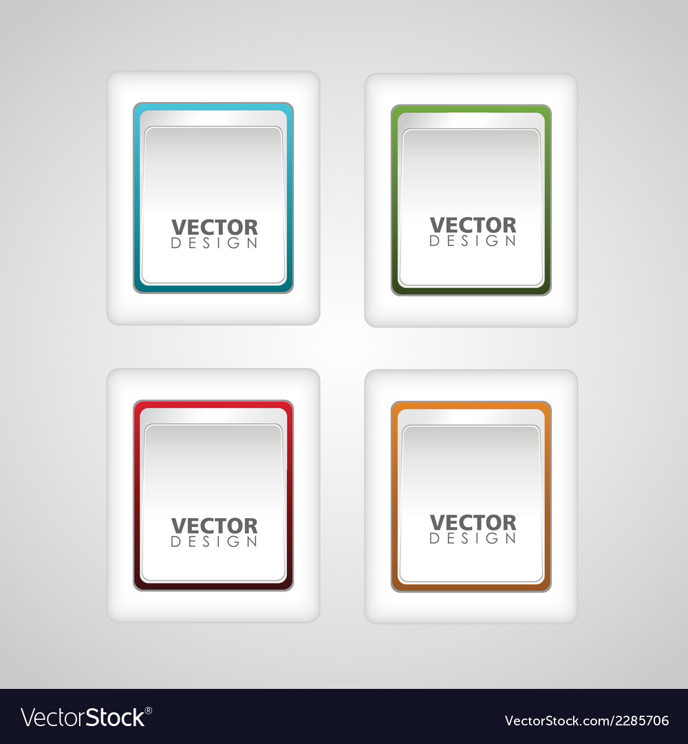 Button icon vector | Price: 1 Credit (USD $1)