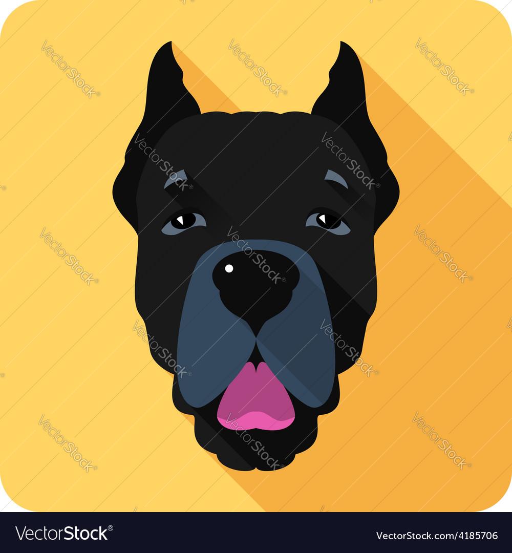 Dog cane corso icon flat design vector | Price: 1 Credit (USD $1)