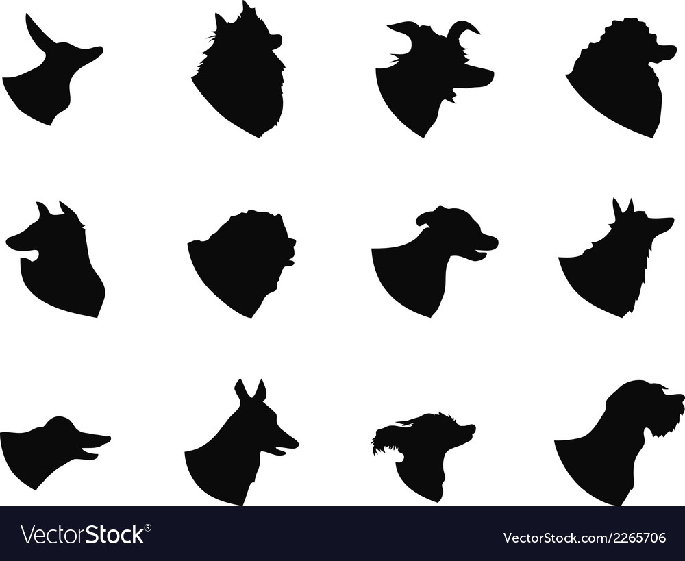 Dog head icons vector | Price: 1 Credit (USD $1)