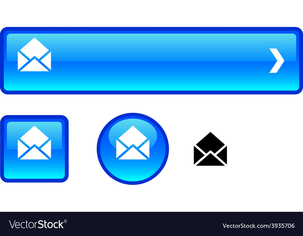 E-mail button set vector | Price: 1 Credit (USD $1)