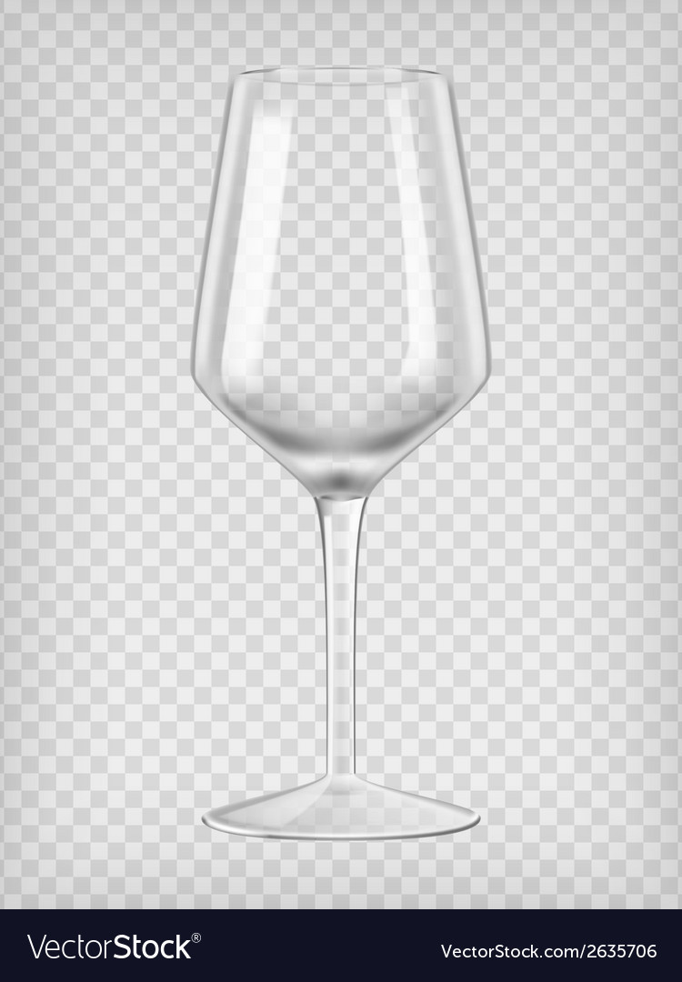Empty wine glass vector | Price: 1 Credit (USD $1)