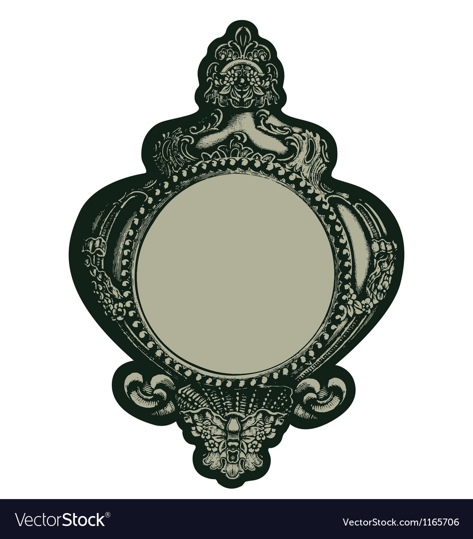 Gothic mirror vector | Price: 1 Credit (USD $1)