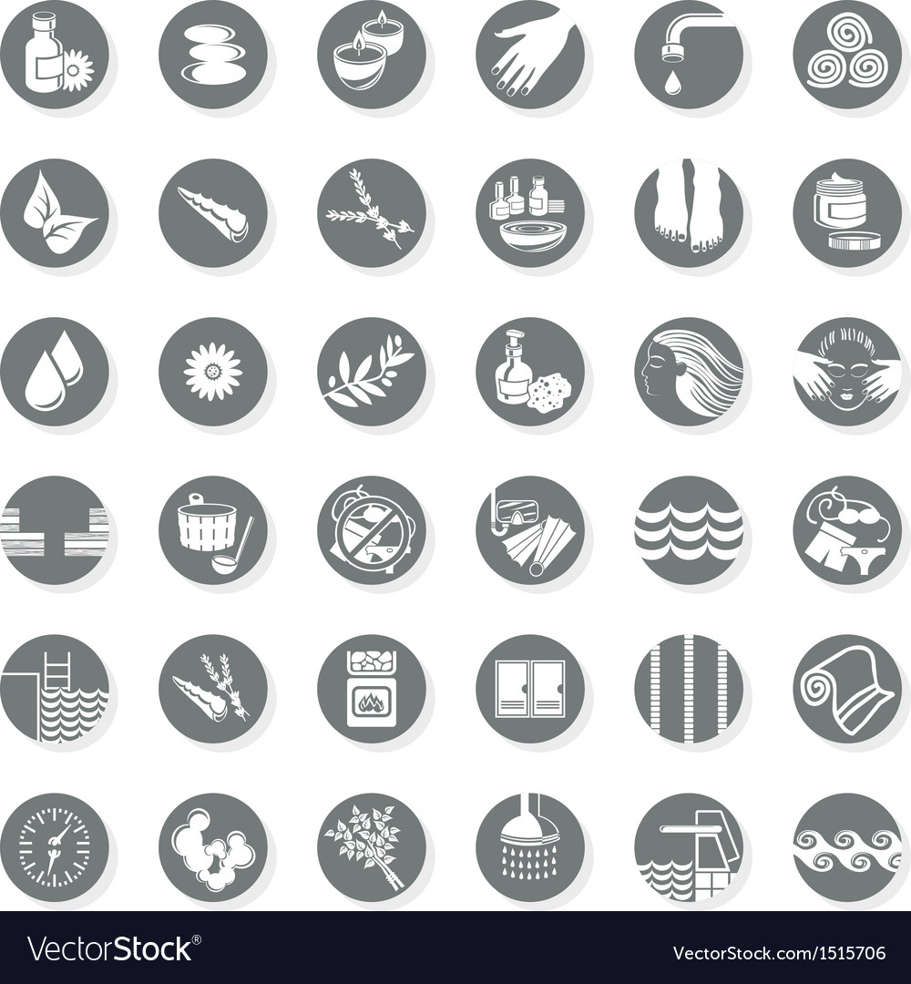 Health spa icon set vector | Price: 1 Credit (USD $1)