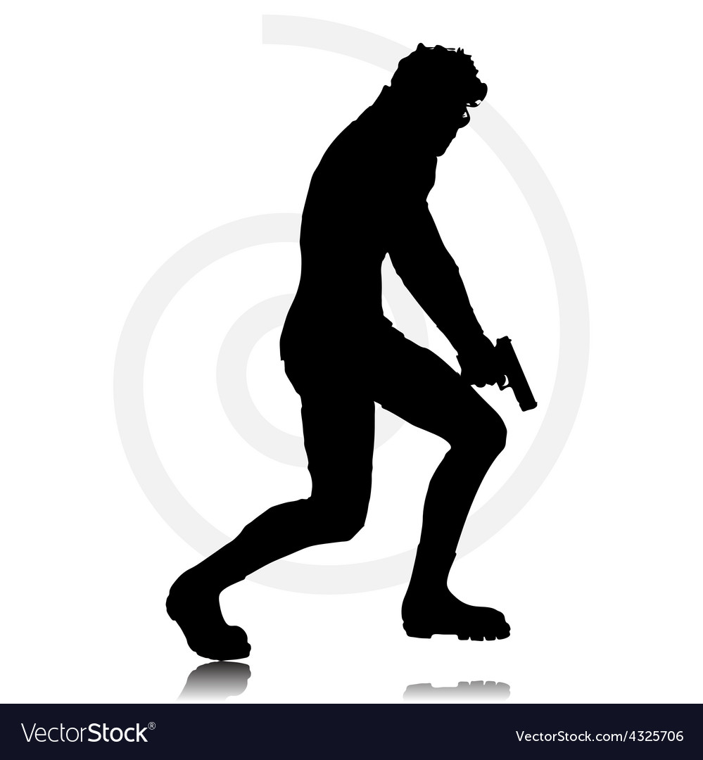 Man with agun vector | Price: 1 Credit (USD $1)