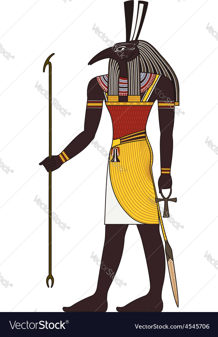 Seth  isolated figure of ancient egypt god vector | Price: 1 Credit (USD $1)