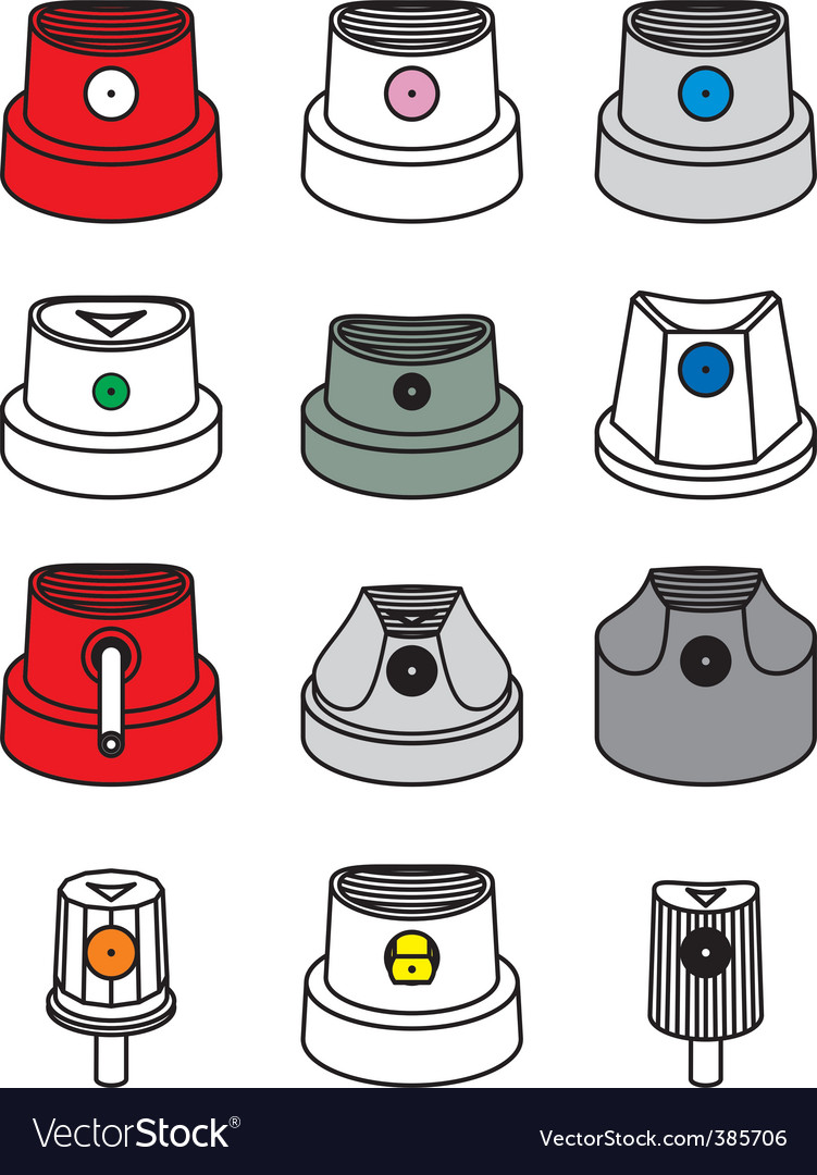 Spray can caps vector | Price: 1 Credit (USD $1)