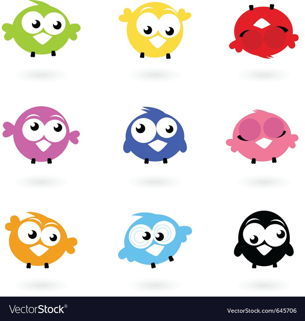 Twitter bird icons vector | Price: 1 Credit (USD $1)