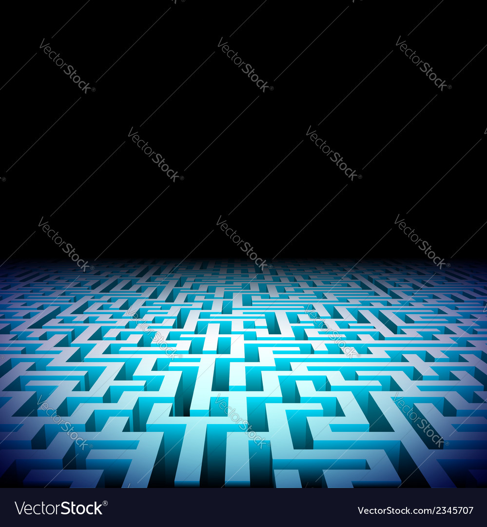Abstract labyrinth in the darkness vector | Price: 1 Credit (USD $1)