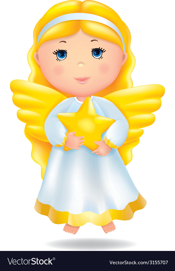 Angel with star vector | Price: 1 Credit (USD $1)