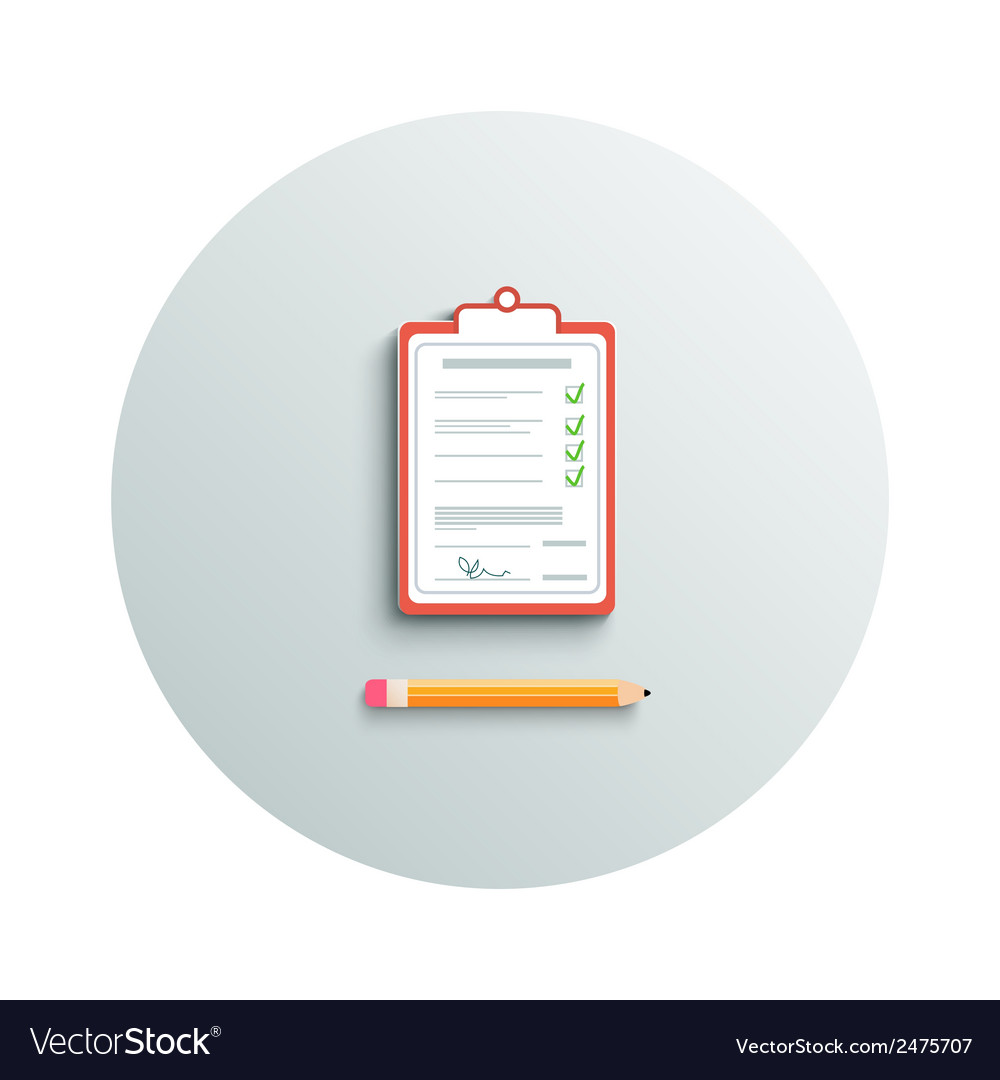 Clipboard and pencil vector | Price: 1 Credit (USD $1)