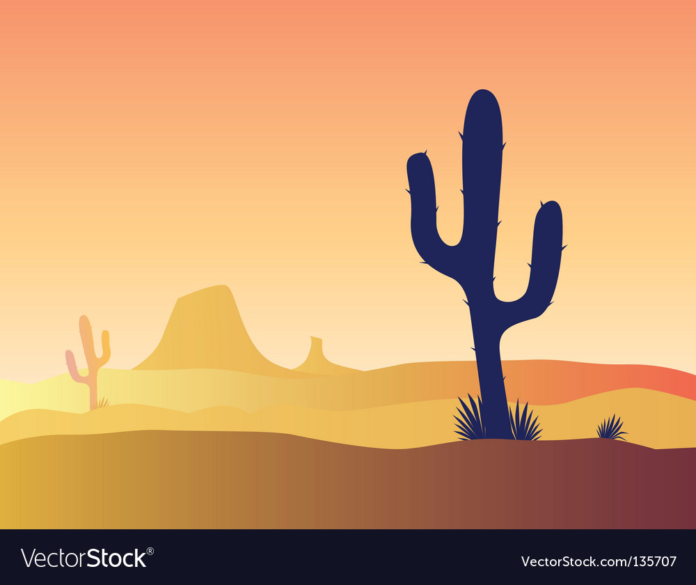 Desert cactus vector | Price: 1 Credit (USD $1)