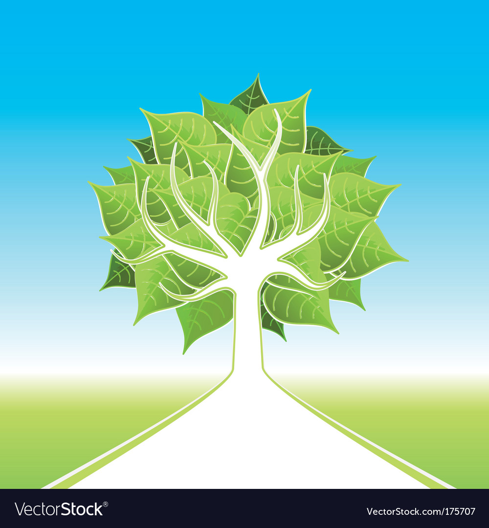 Eco tree design vector | Price: 1 Credit (USD $1)