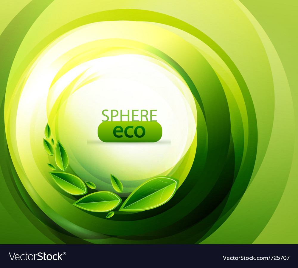 Eco-friendly abstract swirl vector | Price: 1 Credit (USD $1)