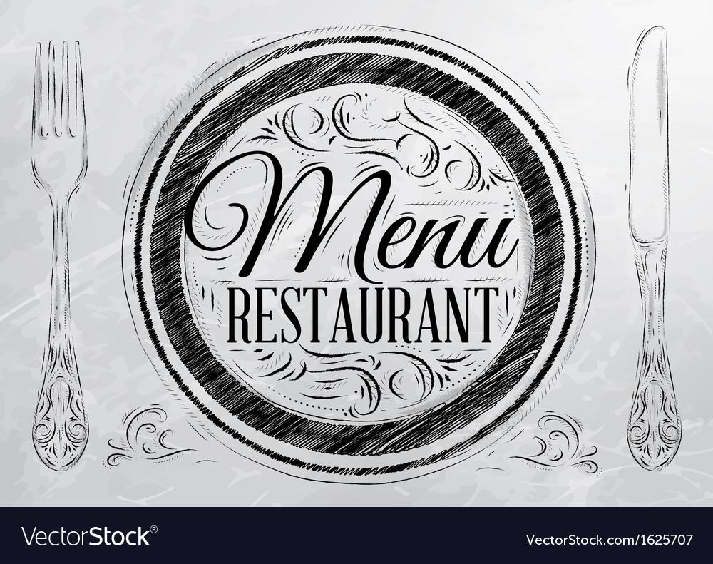 Menu restaurant coal vector | Price: 1 Credit (USD $1)
