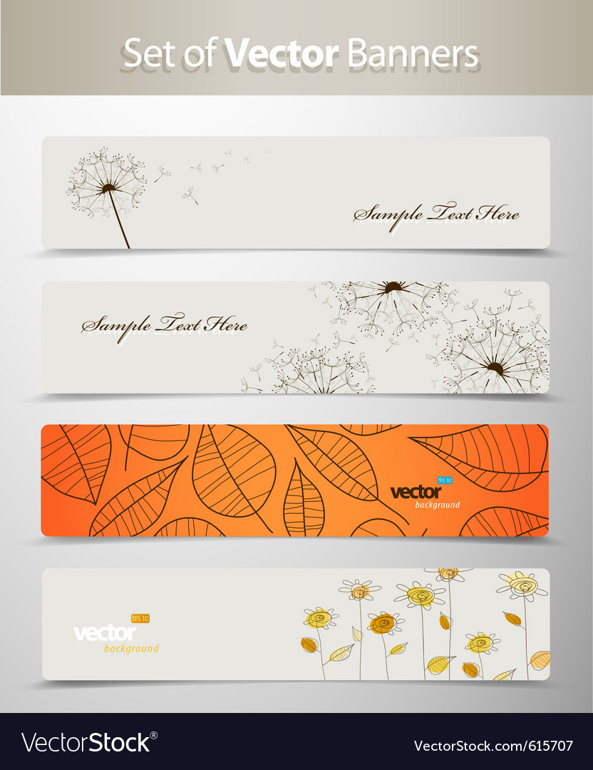 Nature web headers vector | Price: 1 Credit (USD $1)