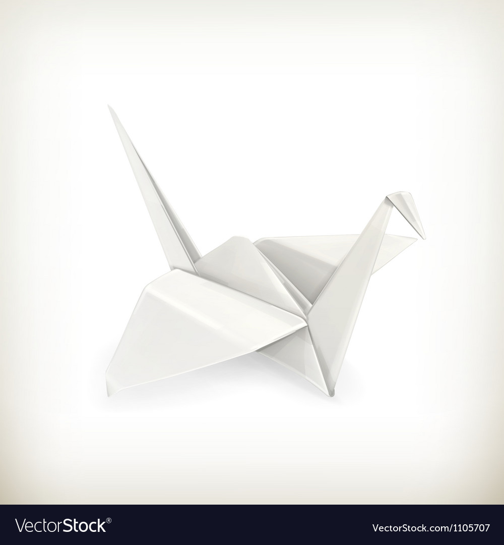 Origami crane vector | Price: 1 Credit (USD $1)