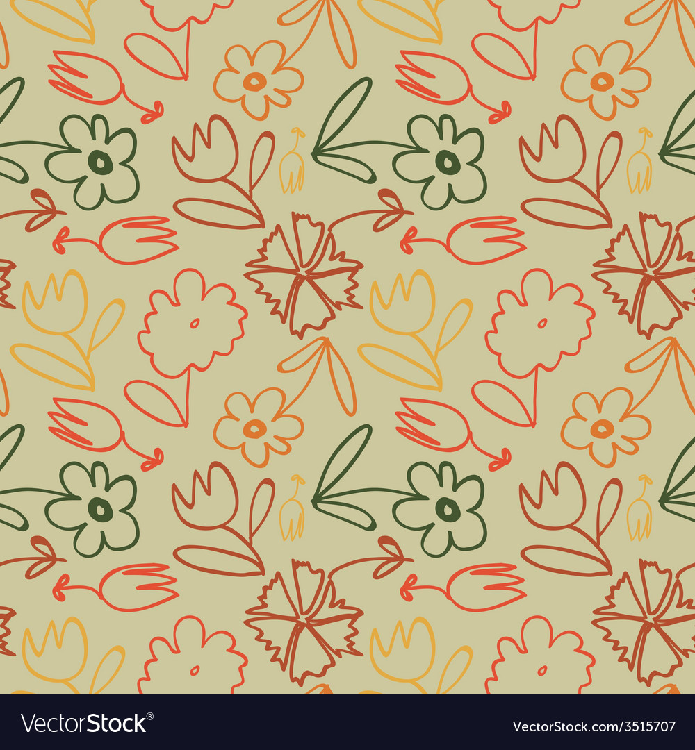 Seamless flower pattern background vector   Price: 1 Credit (USD $1)