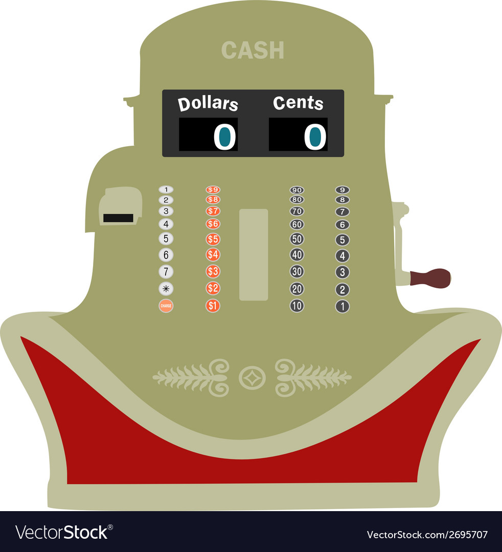 Smiling cash register vector | Price: 1 Credit (USD $1)
