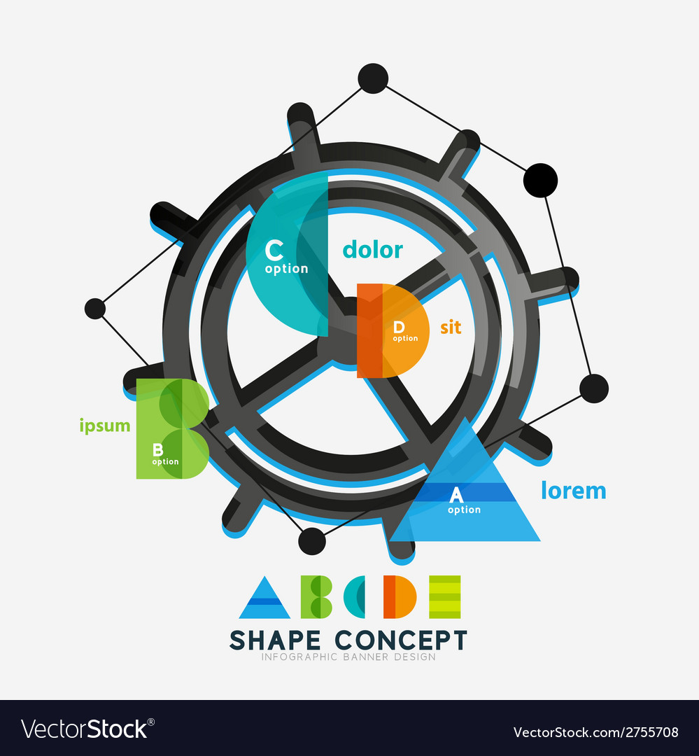 Abstract circle geometric infographic diagram vector | Price: 1 Credit (USD $1)