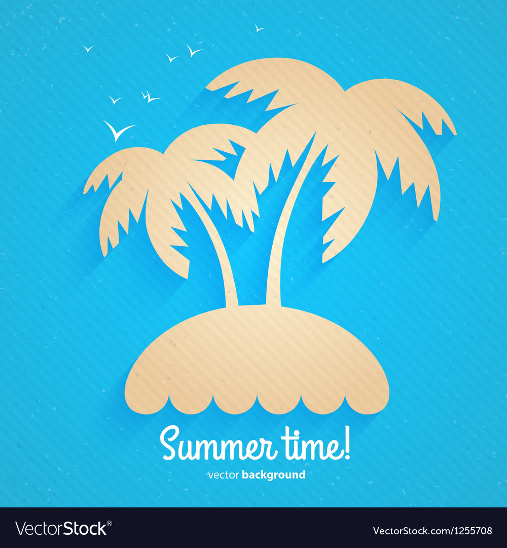 An island in the ocean vector | Price: 1 Credit (USD $1)