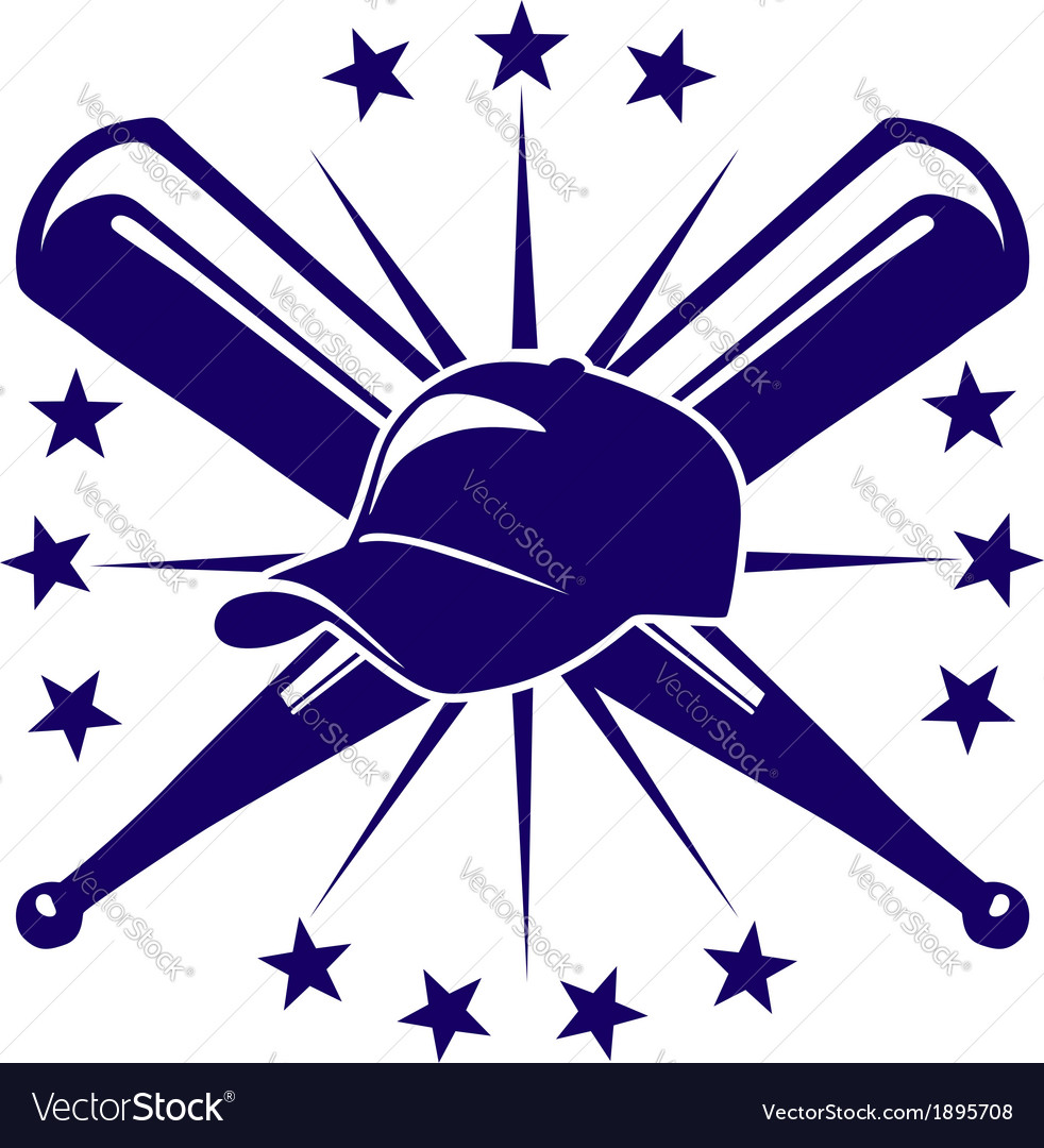 Baseball icon or emblem vector | Price: 1 Credit (USD $1)