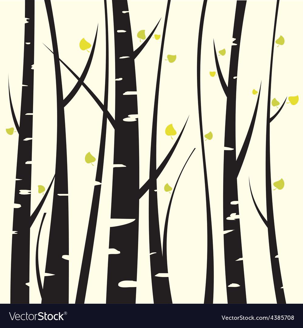 Birch three vector | Price: 1 Credit (USD $1)