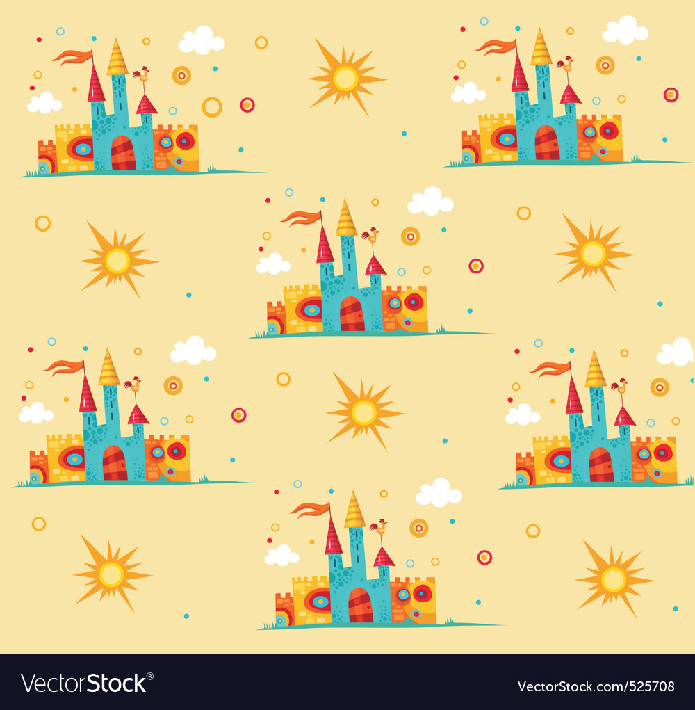 Castle pattern vector | Price: 1 Credit (USD $1)