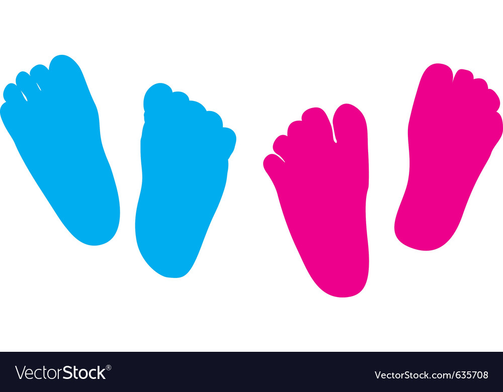 Child feet silhouette vector | Price: 1 Credit (USD $1)