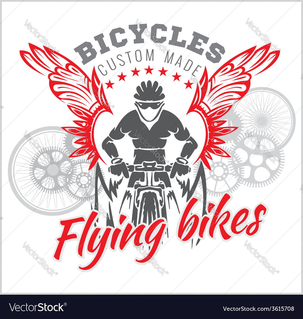 Designs with flying bicycle for fashion vector   Price: 1 Credit (USD $1)