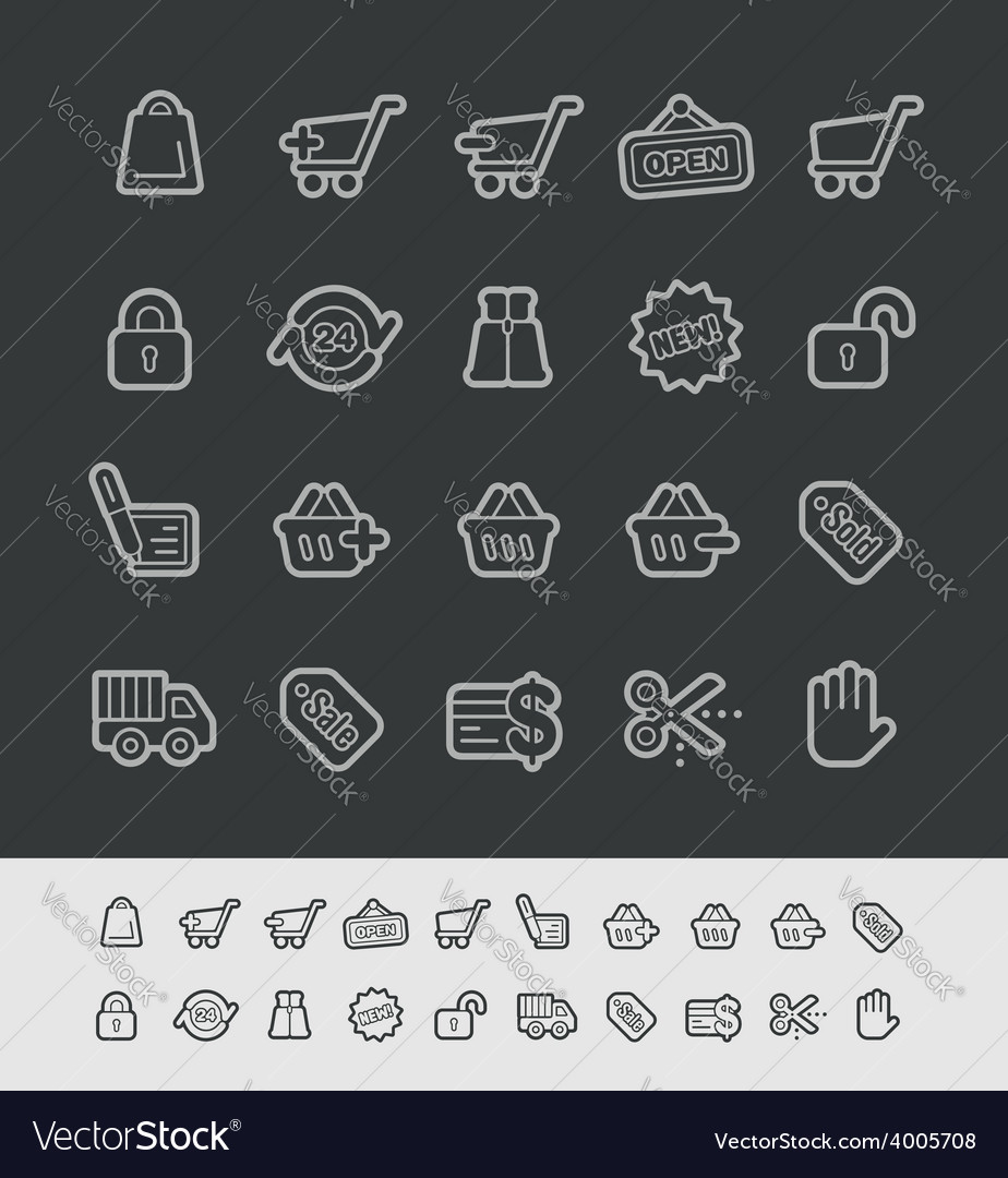 E-shopping icons vector | Price: 1 Credit (USD $1)