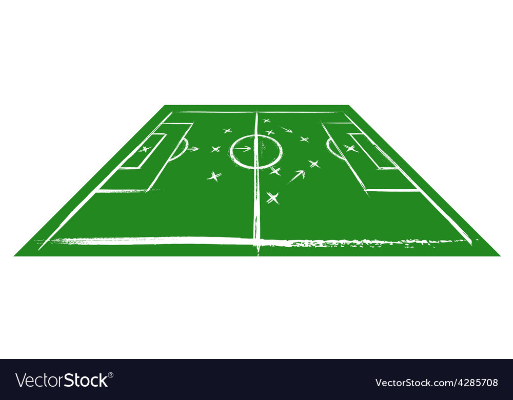Football field in perspective vector | Price: 1 Credit (USD $1)