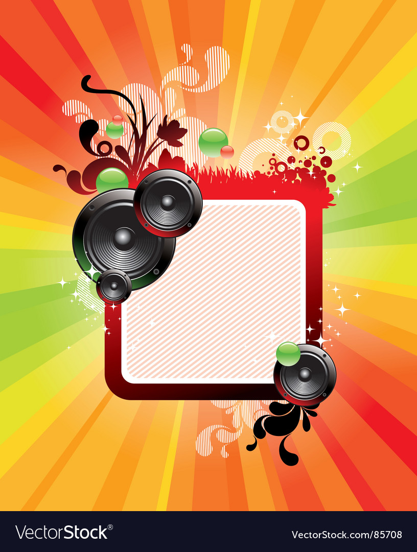 Frame loudspeakers vector | Price: 1 Credit (USD $1)