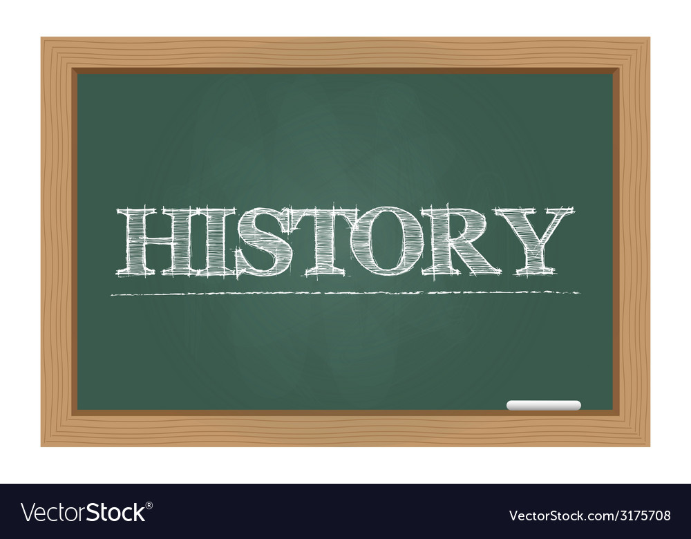 History text on chalkboard vector | Price: 1 Credit (USD $1)