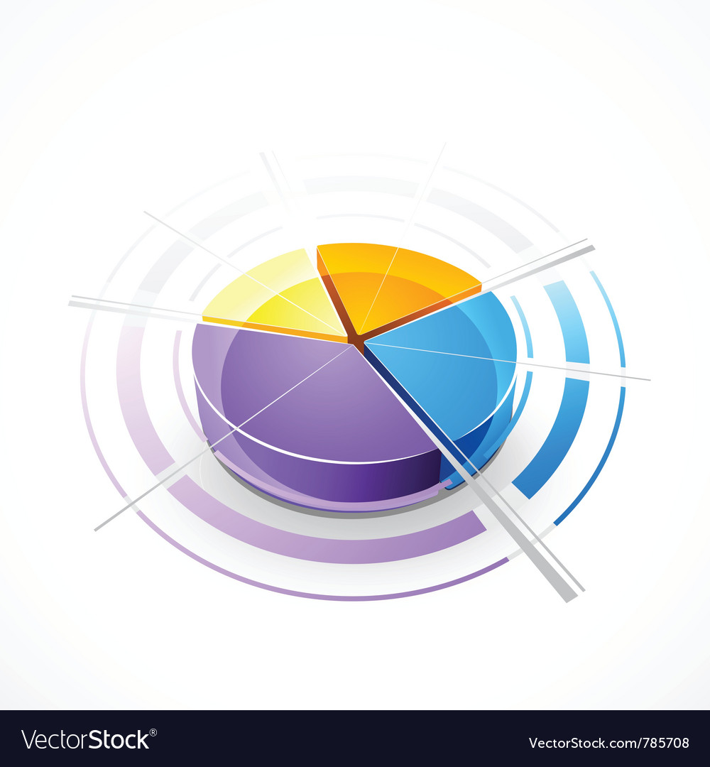 Pie-chart graph vector | Price: 3 Credit (USD $3)