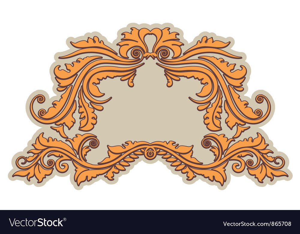 Vintage floral frame vector | Price: 1 Credit (USD $1)