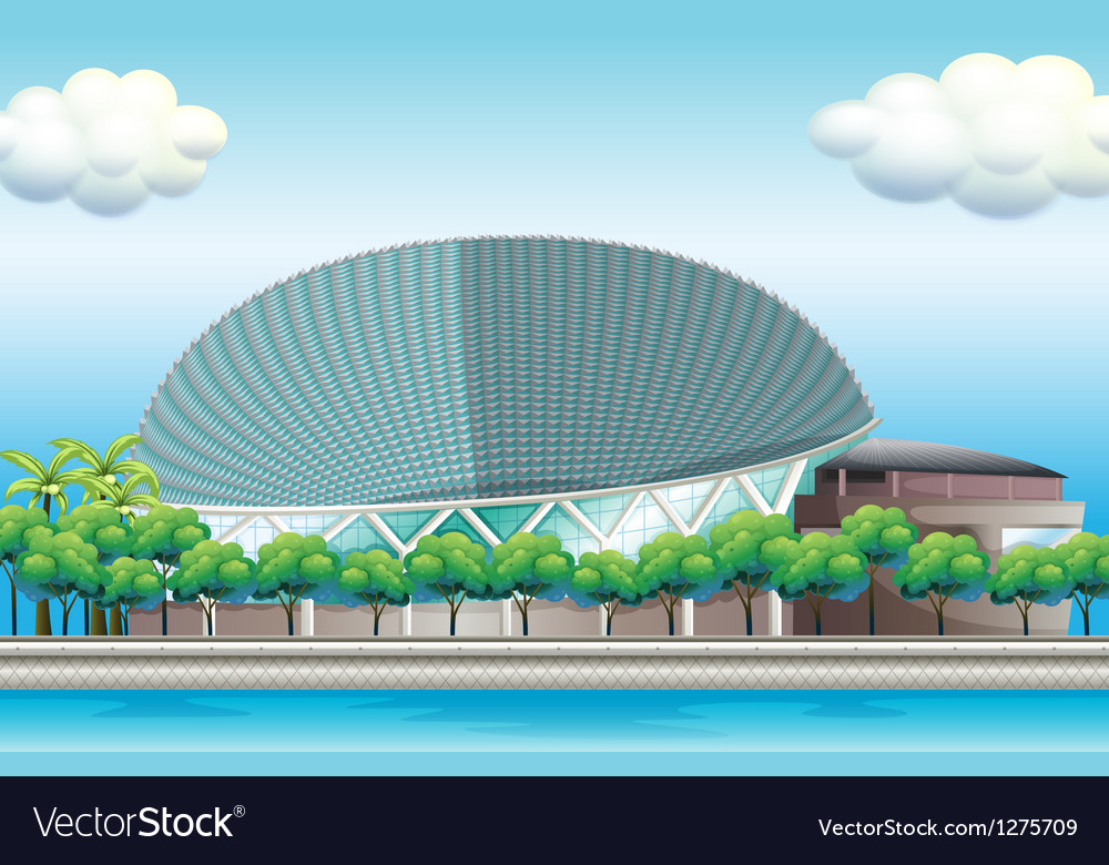 A stadium surrounded with trees vector | Price: 1 Credit (USD $1)