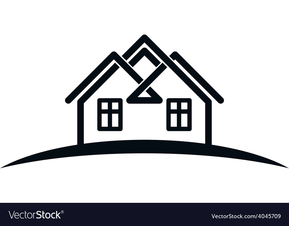 Abstract houses with horizon line can be used in vector | Price: 1 Credit (USD $1)