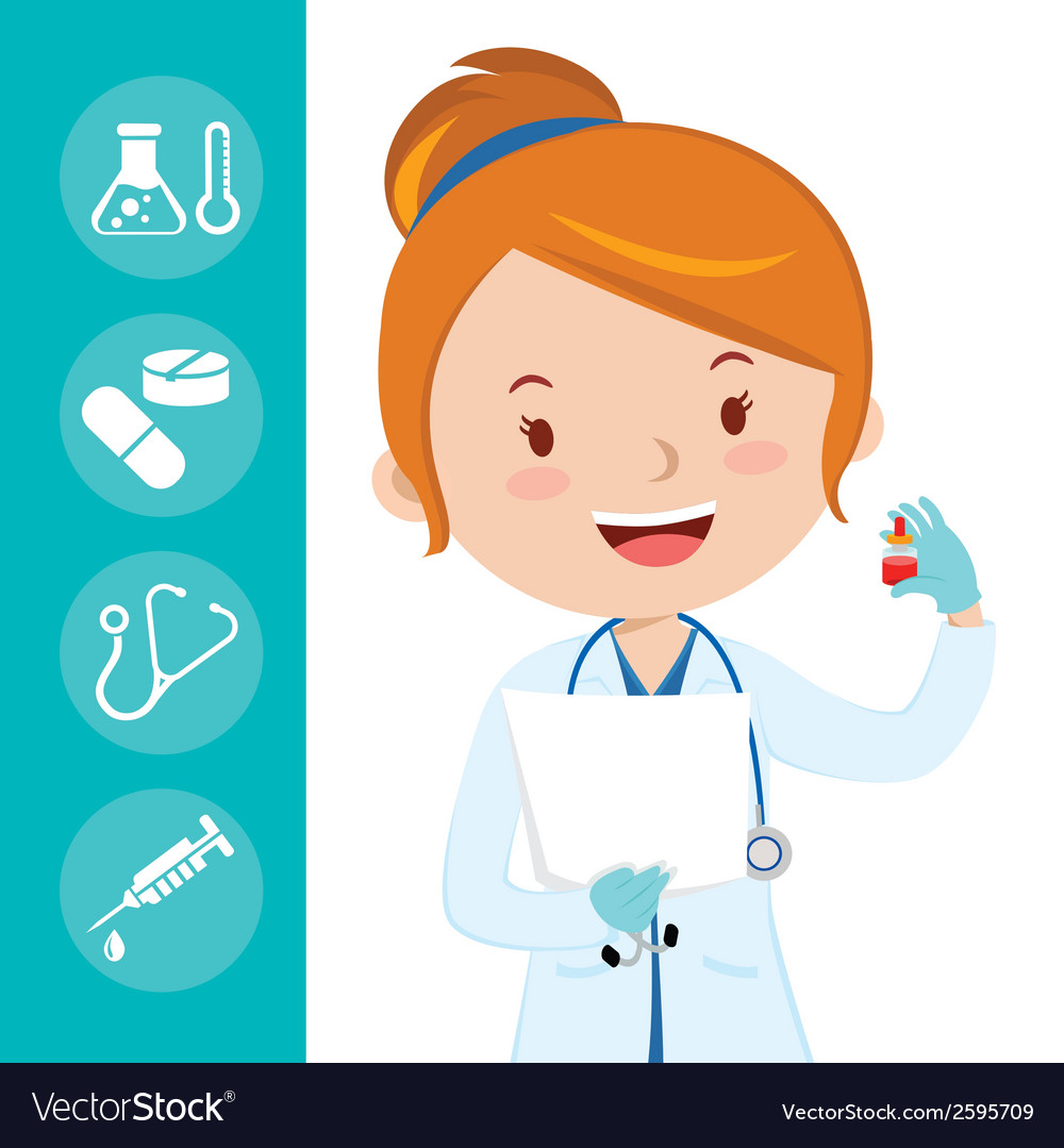 Beautiful medical doctor vector | Price: 1 Credit (USD $1)