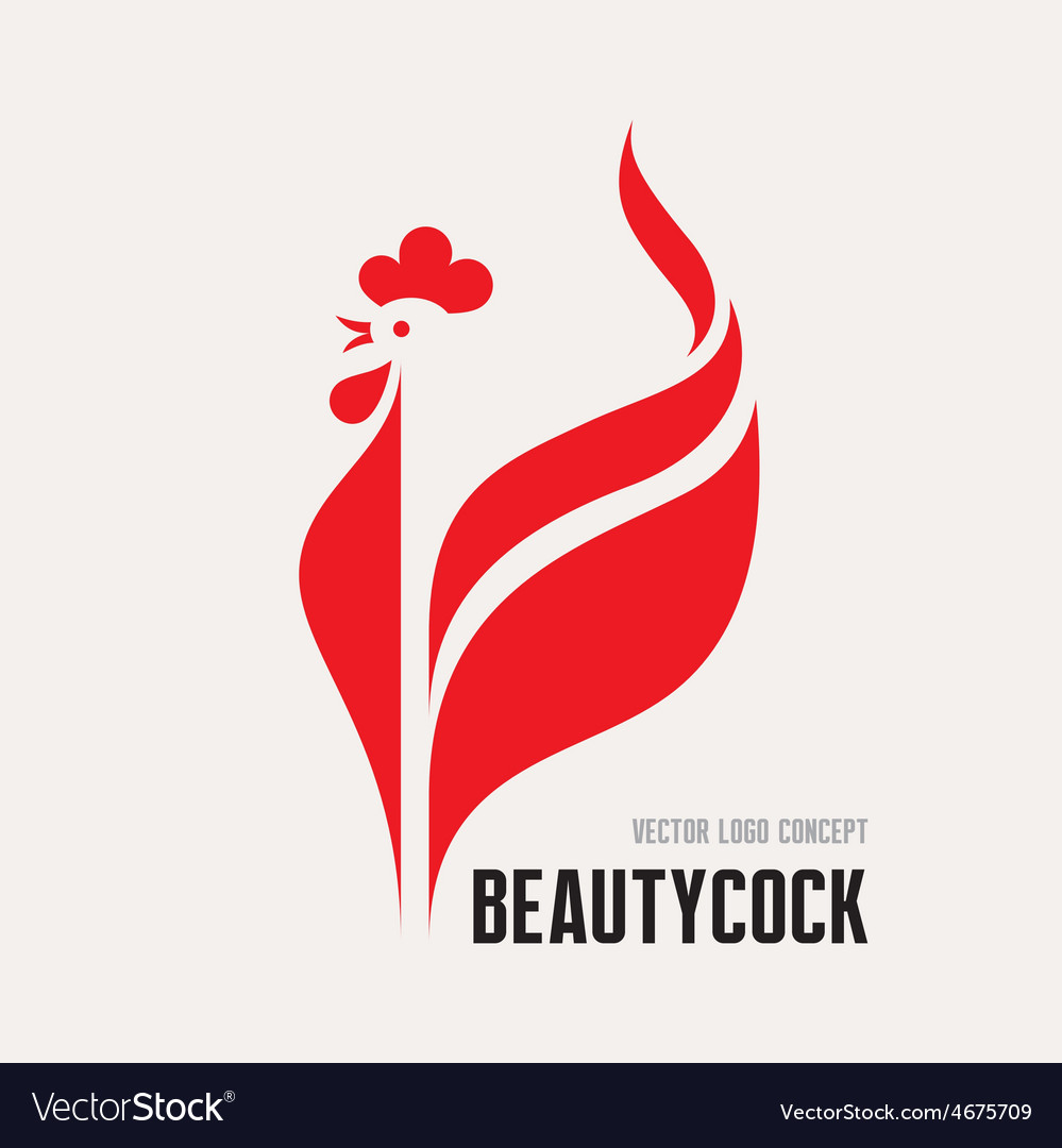 Beauty cock - rooster logo concept vector | Price: 1 Credit (USD $1)