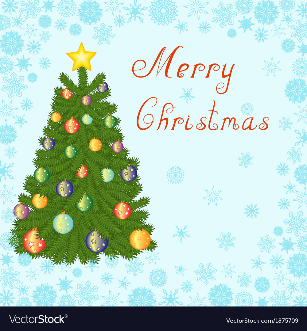 Christmas tree 1 vector | Price: 1 Credit (USD $1)