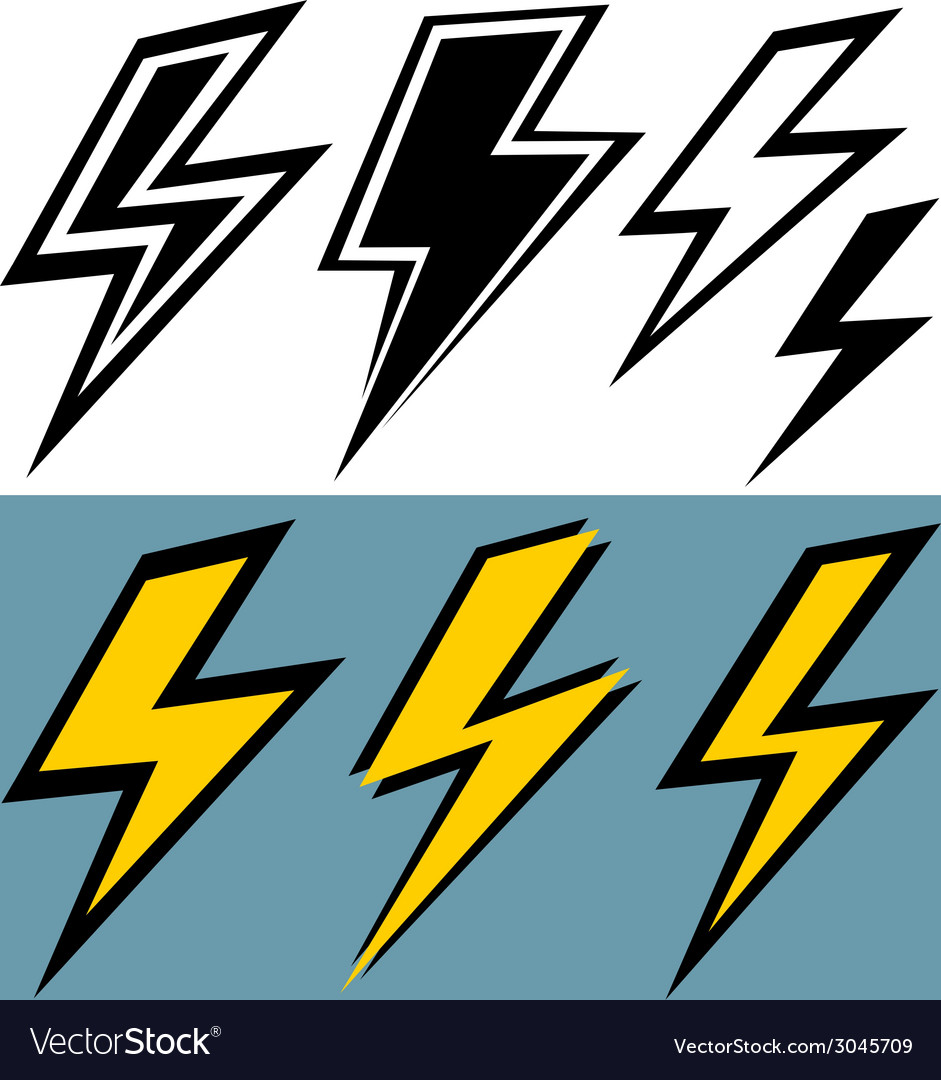 Flat sign of lightning vector | Price: 1 Credit (USD $1)