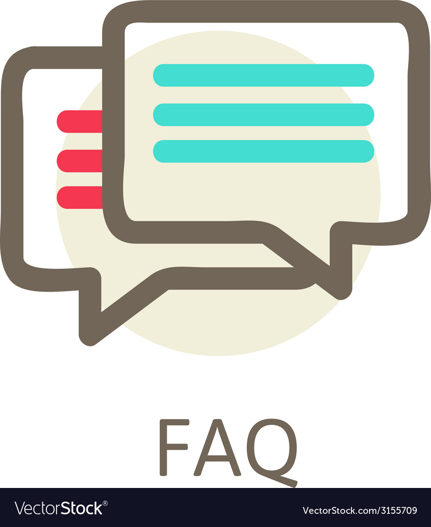 Icons for faq support contact vector | Price: 1 Credit (USD $1)