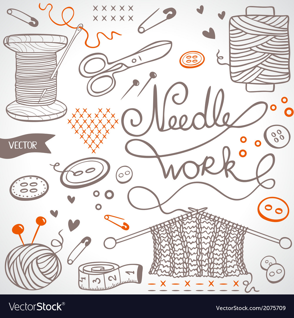 Needlework set vector | Price: 1 Credit (USD $1)