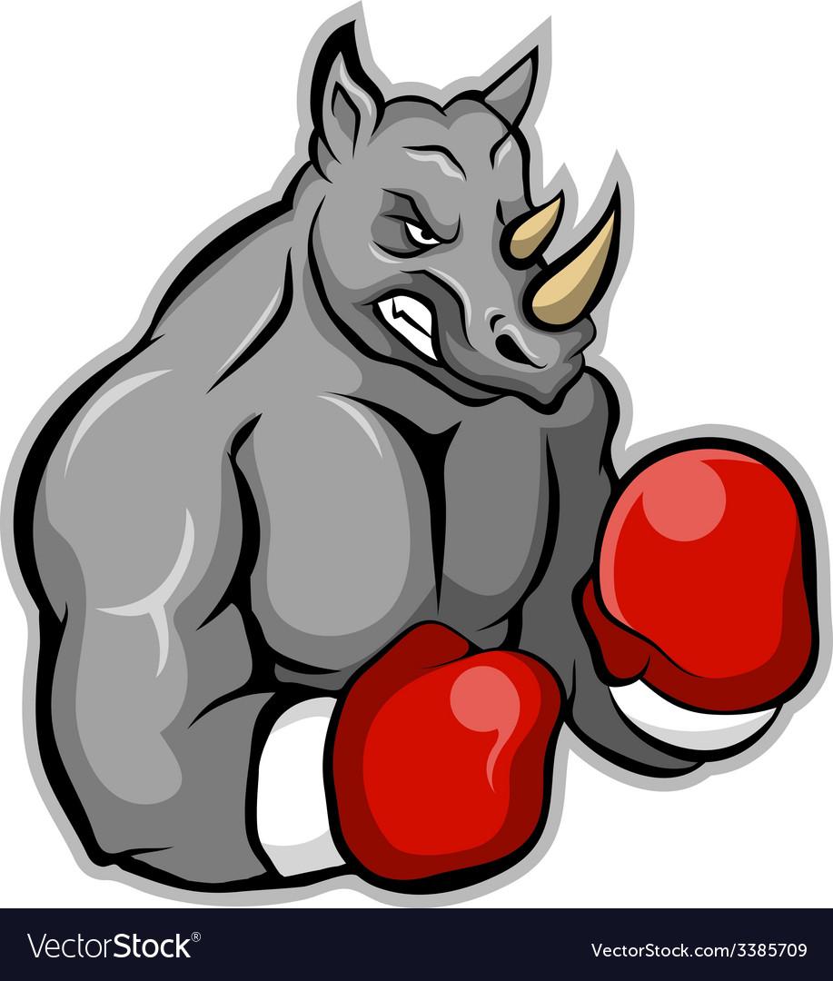 Rhino boxer vector | Price: 3 Credit (USD $3)