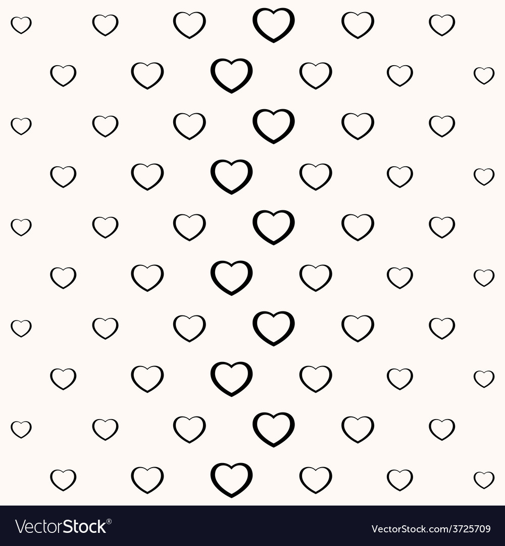 Seamless simple minimalistic heart background vector | Price: 1 Credit (USD $1)